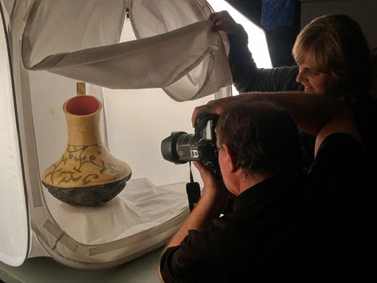 Photo session for a ceramic