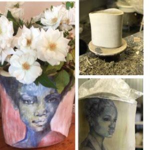 trayci tompkins vases, hand coiled vases, flower vases, clay vases, hand coiled pots, south african ceramics